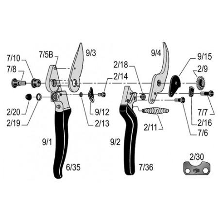 Sécateur ergonomique Felco 9