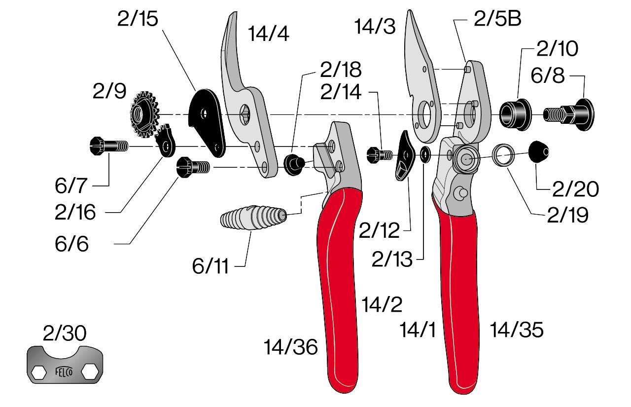 Sécateur ergonomique Felco 14