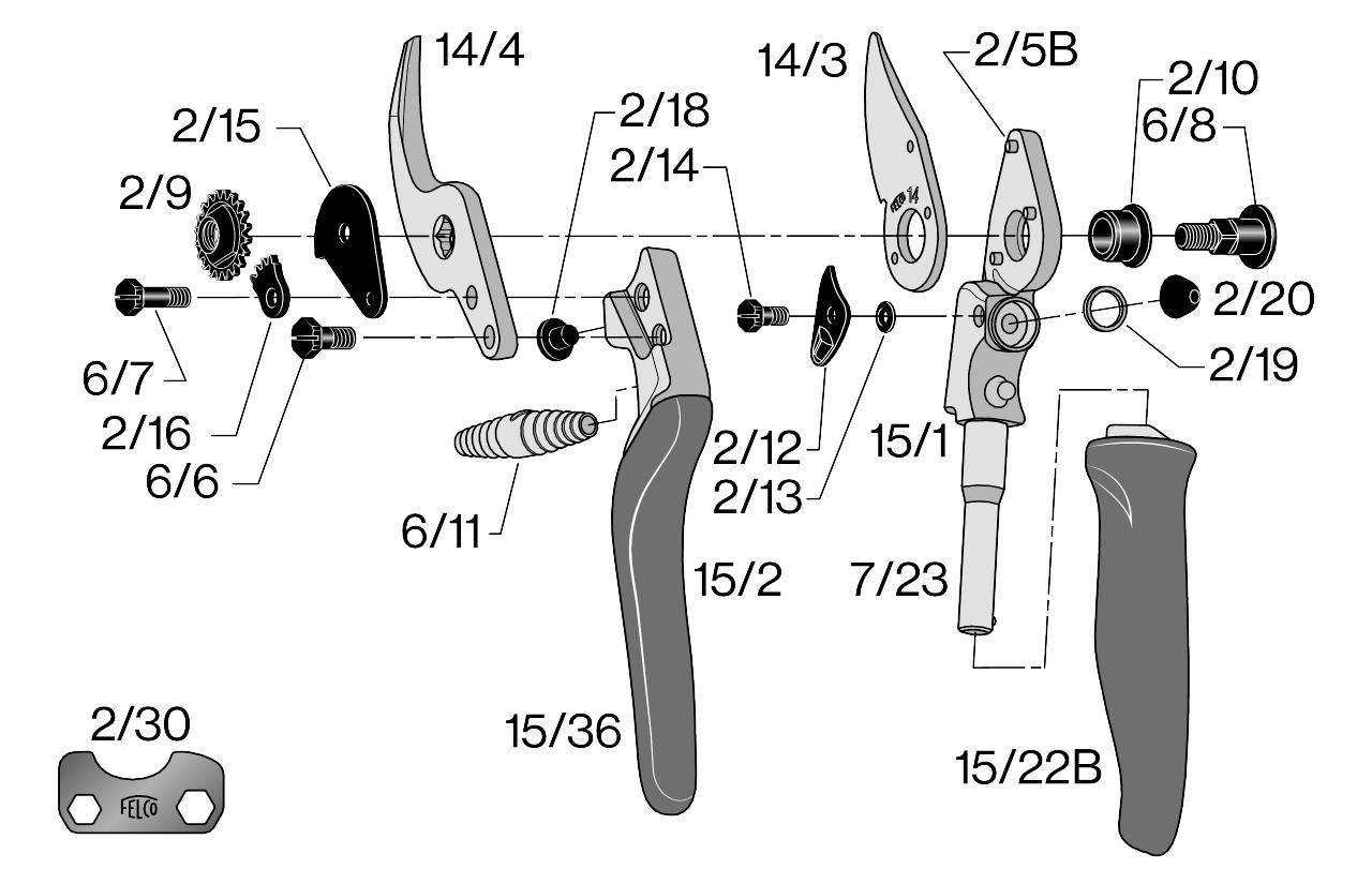 Sécateur ergonomique Felco 15