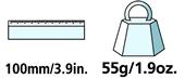 Caractéristiques techniques de l'écussonnoir pour arbre fruitier Felco 1.90 40