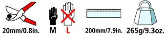 Caractéristiques techniques du sécateur Felco 12