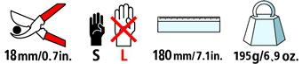 Caractéristiques techniques du sécateur Felco 14