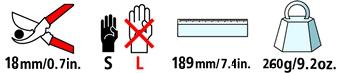 Caractéristiques techniques du sécateur Felco 15