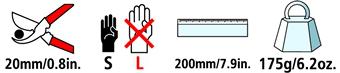 Caractéristiques techniques du sécateur Felco 160S