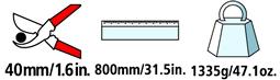 Caractéristiques techniques de l'ébrancheur Felco 220