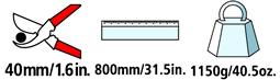 Caractéristiques techniques de l'ébrancheur Felco 230