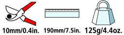 Caractéristiques techniques de l'épinette Felco 300