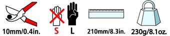 Caractéristiques techniques du sécateur Felco 4C&H