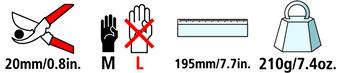 Caractéristiques techniques du sécateur Felco 6CC