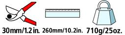 Caractéristiques techniques du sécateur pneumatique Felco 70