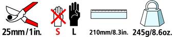 Caractéristiques techniques du sécateur Felco 8CC