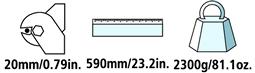 Caractéristiques techniques du coupe-câble électrique Felco C16E