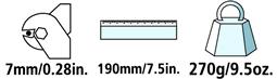 Caractéristiques techniques du coupe-câble Felco C7